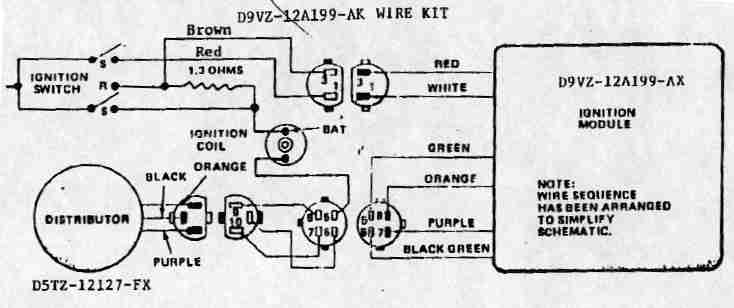 Ford Duraspark Wiring Diagram on ford mustang where is the second fuse panel in